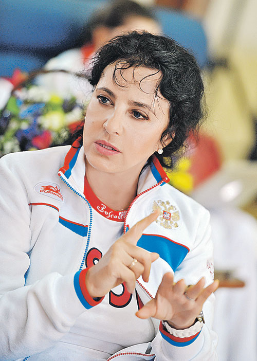 Russia on top in rhythmic gymnastics with legendary coach irina viner