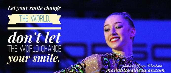 Maria Titova the Swan-FB banner-Let your smile change the world Don't let the world change your smile