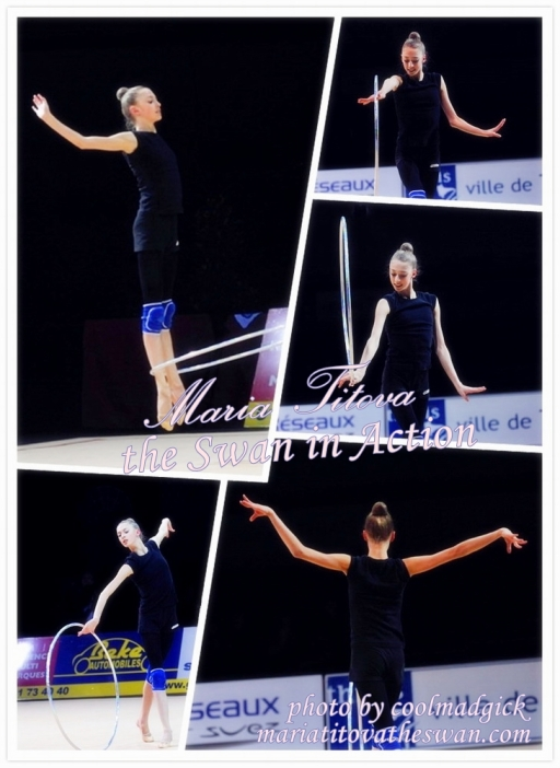 Maria Titova the swan in action-photo montage-logo