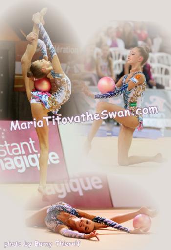 Maria Titova the Swan-Photo Collage-Ball 2013-01