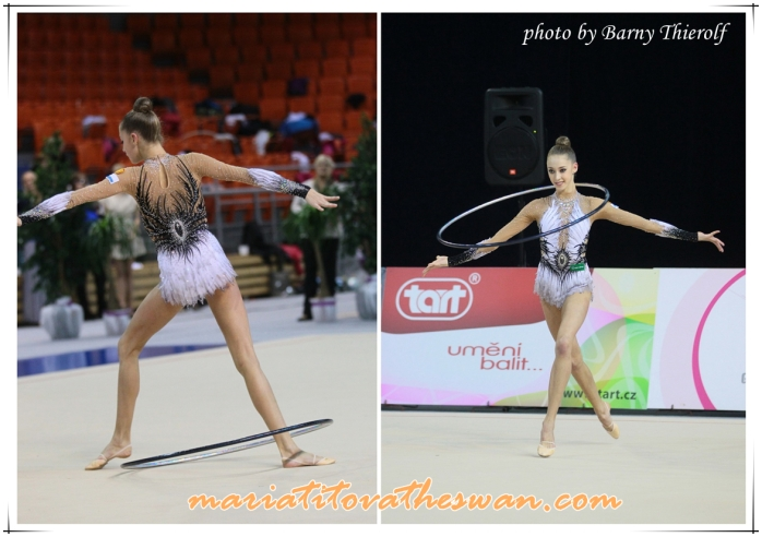 Maria Titova the swan-photo collage-Swan Lake Leo front vs back