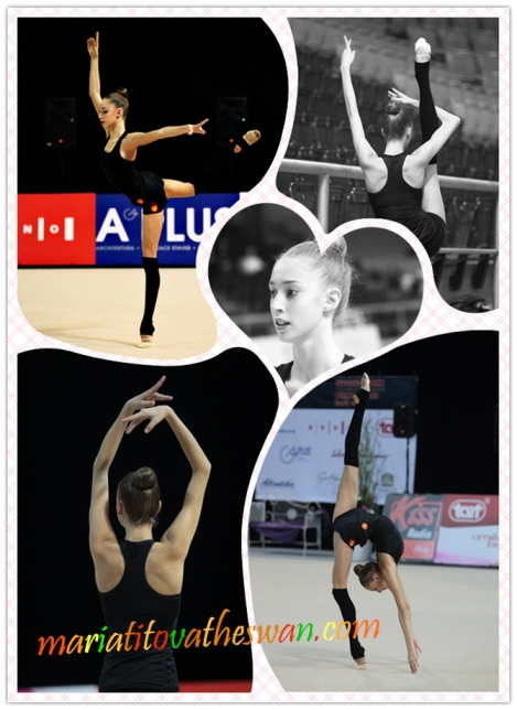 Maria Titova the Swan-Photo Collage-Warming Up