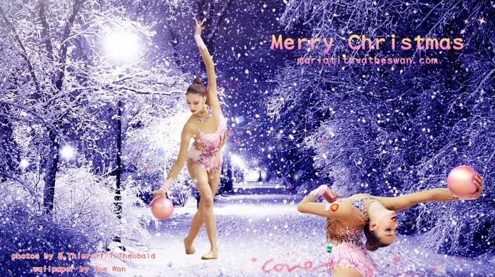 Maria Titova the Swan-Wall-Merry Christmas 2014-02