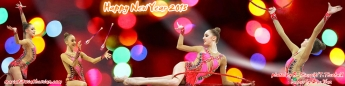 Maria Titova the Swan-WP banner-Happy New Year 2015-02