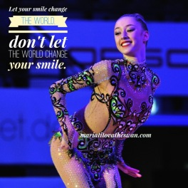 Maria Titova the swan-Let your smile change the world don't let the world change your smile