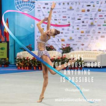 Maria Titova the Swan-Once you choose hope anything is possible