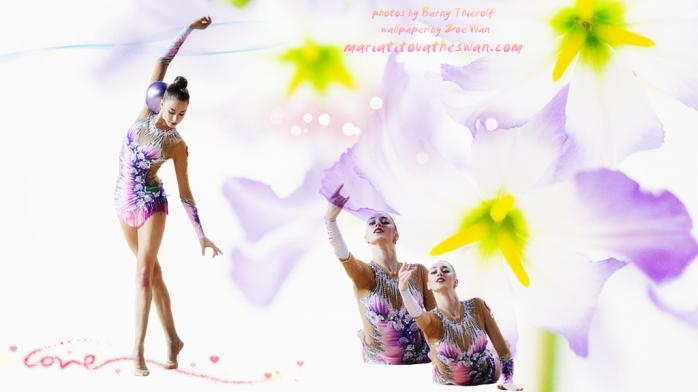 Maria Titova the Swan-Wall-Ball 2015