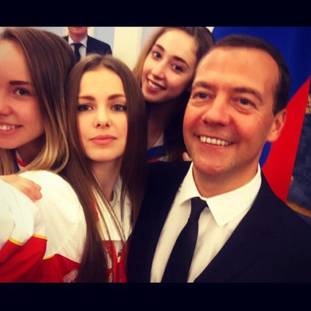 Maria Titova-Met with Medvedev-17July2015